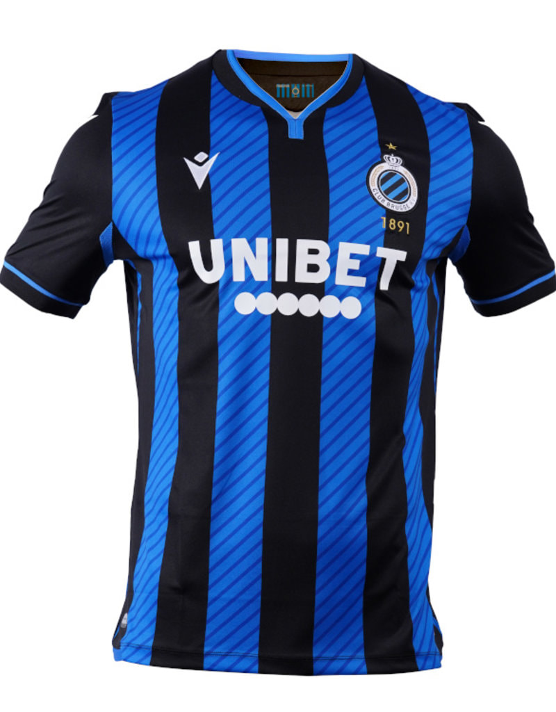 Club Brugge Home 2020/2021 Football Shirt Manufactured By Macron. The Club Plays Football In Belgium.