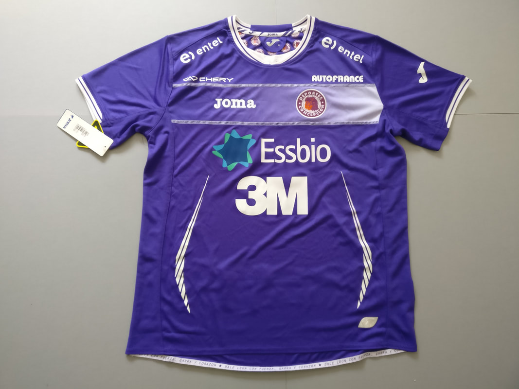 Club Deportes Concepción Home 2011/2012 Football Shirt Manufactured By Joma. The Club Plays Football In Chile.