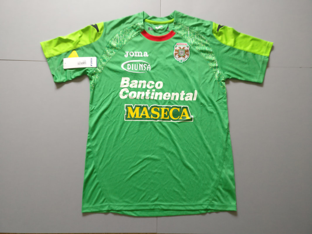 Club Deportivo Marathón Home 2011/2012 Football Shirt Manufactured By Joma. The Club Plays Football In Honduras.