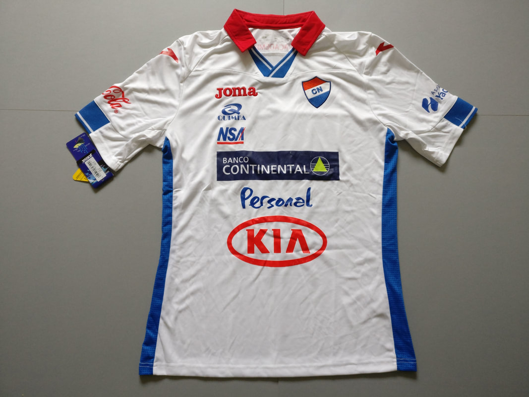 Club Nacional Home 2015/2016 Football Shirt Manufactured By Joma. The Club Plays Football In Paraguay.