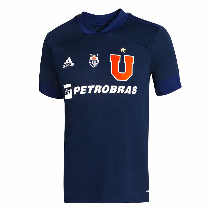 Club Universidad de Chile Home 2020 Football Shirt. The shirt is manufactured by Adidas and the club plays in Chile.