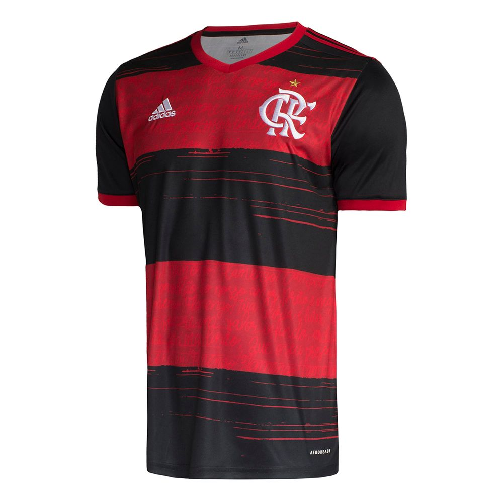 Clube de Regatas do Flamengo Home 2020 Football Shirt. The shirt is manufactured by Adidas and the club plays in Brazil.