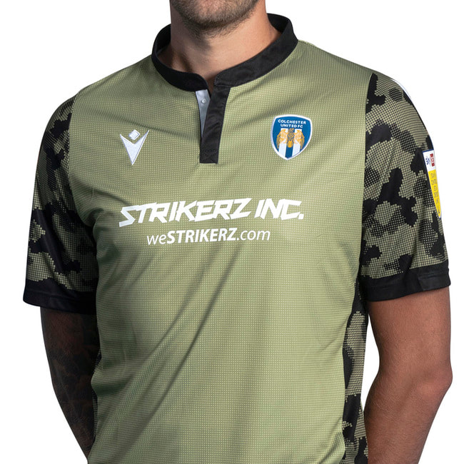 Colchester United Away 2020/2021 Football Shirt Manufactured By Macron. The Club Plays Football In England.