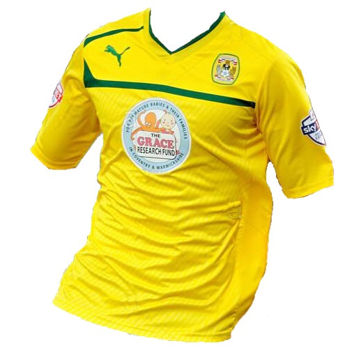 Coventry City Away 2013/2014 Football Shirt Manufactured By Puma. The Club Plays Football In England.