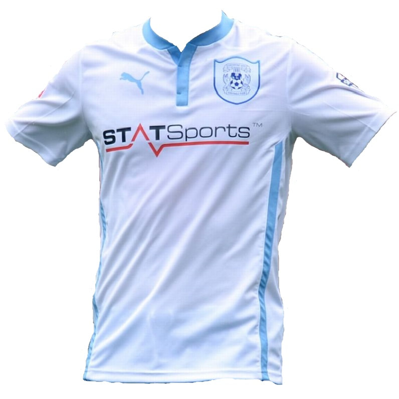 Coventry City Away 2014/2015 Football Shirt Manufactured By Puma. The Club Plays Football In England.