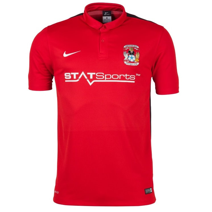 Coventry City Away 2015/2016 Football Shirt Manufactured By Nike. The Club Plays Football In England.