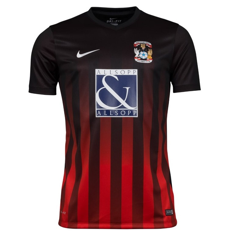 Coventry City Away 2016/2017 Football Shirt Manufactured By Nike. The Club Plays Football In England.