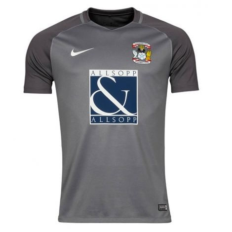 Coventry City Away 2017/2018 Football Shirt Manufactured By Nike. The Club Plays Football In England.