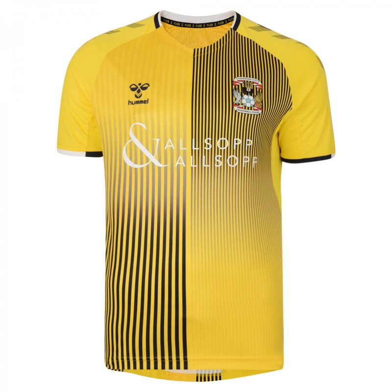 Coventry City Away 2019/2020 Football Shirt Manufactured By Hummel. The Club Plays Football In England.