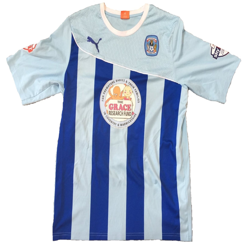 Coventry City Home 2013/2014 Football Shirt Manufactured By Puma. The Club Plays Football In England.