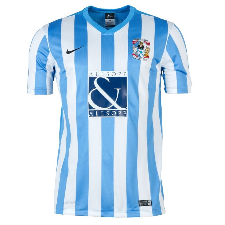 Coventry City Home 2015/2016 Football Shirt Manufactured By Nike. The Club Plays Football In England.