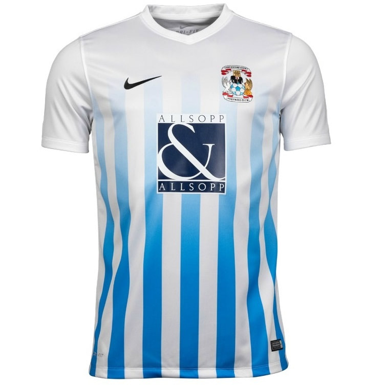 Coventry City Home 2016/2017 Football Shirt Manufactured By Nike. The Club Plays Football In England.