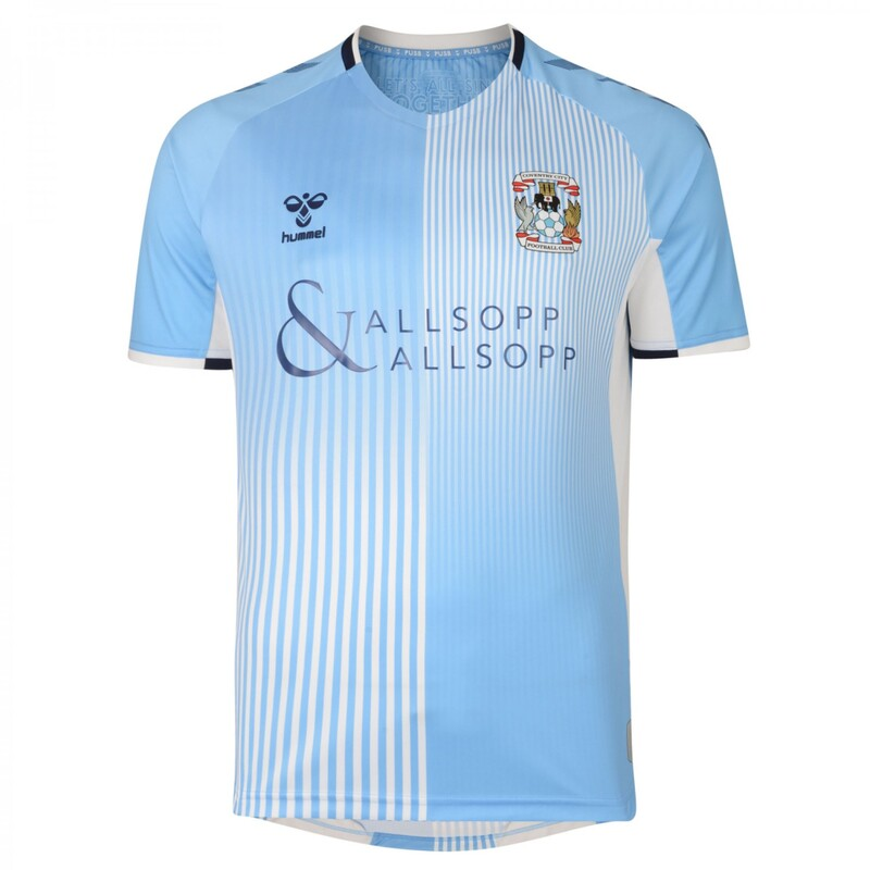 Coventry City Home 2019/2020 Football Shirt Manufactured By Hummel. The Club Plays Football In England.