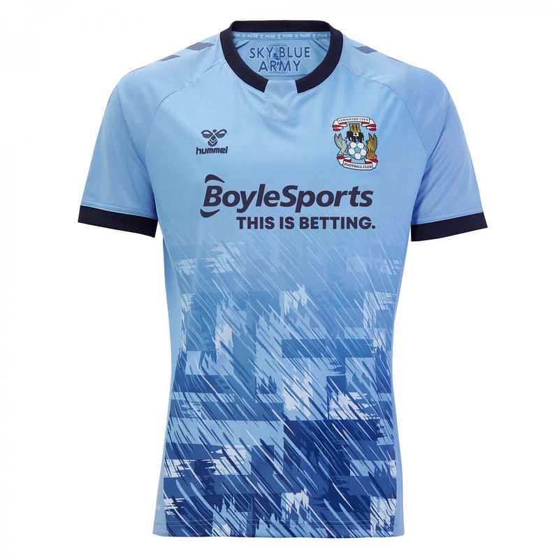 Coventry City Home 2020/2021 Football Shirt Manufactured By Hummel. The Club Plays Football In England.