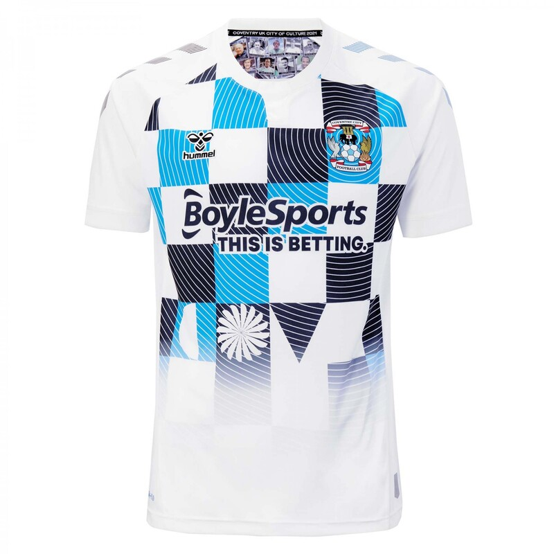 Coventry City Third 2020/2021 Football Shirt Manufactured By Hummel. The Club Plays Football In England.