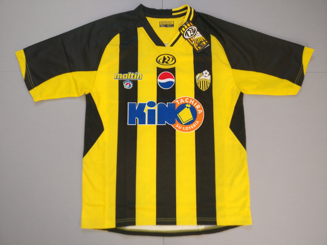 Deportivo Tachira Futbol Club Home 2010/2011 Football Shirt. BNWT. Medium. Club Football Shirts.