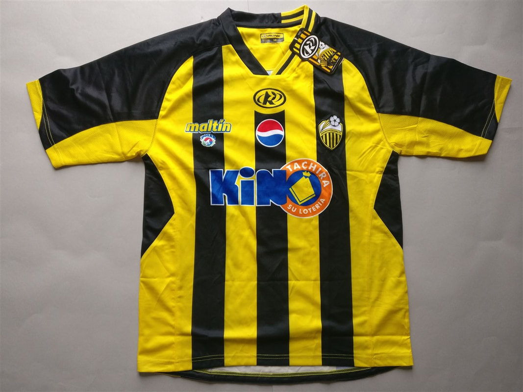 Deportivo Táchira Fútbol Club Home 2010/2011 Shirt. BNWT. Medium. Club Football Shirts.