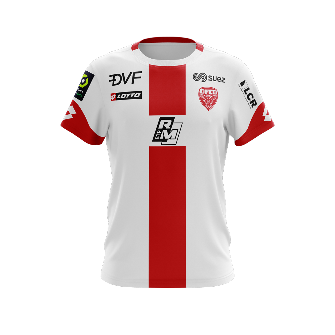 Dijon Away 2020/2021 Football Shirt Manufactured By Lotto. The Club Plays Football In France.