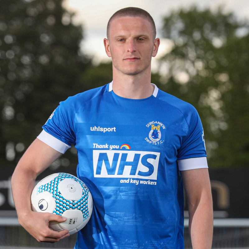 Dungannon Swifts Home 2020/2021 Football Shirt Manufactured By Uhlsport. The Club Plays Football In Northern Ireland.