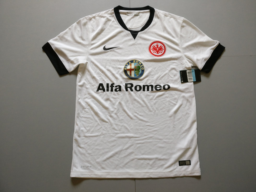 Eintracht Frankfurt Away 2014/2015 Football Shirt Manufactured By Nike. The Club Plays Football In Germany.
