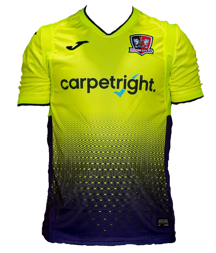 Exeter City Away 2020/2021 Football Shirt Manufactured By Joma. The Club Plays Football In England.