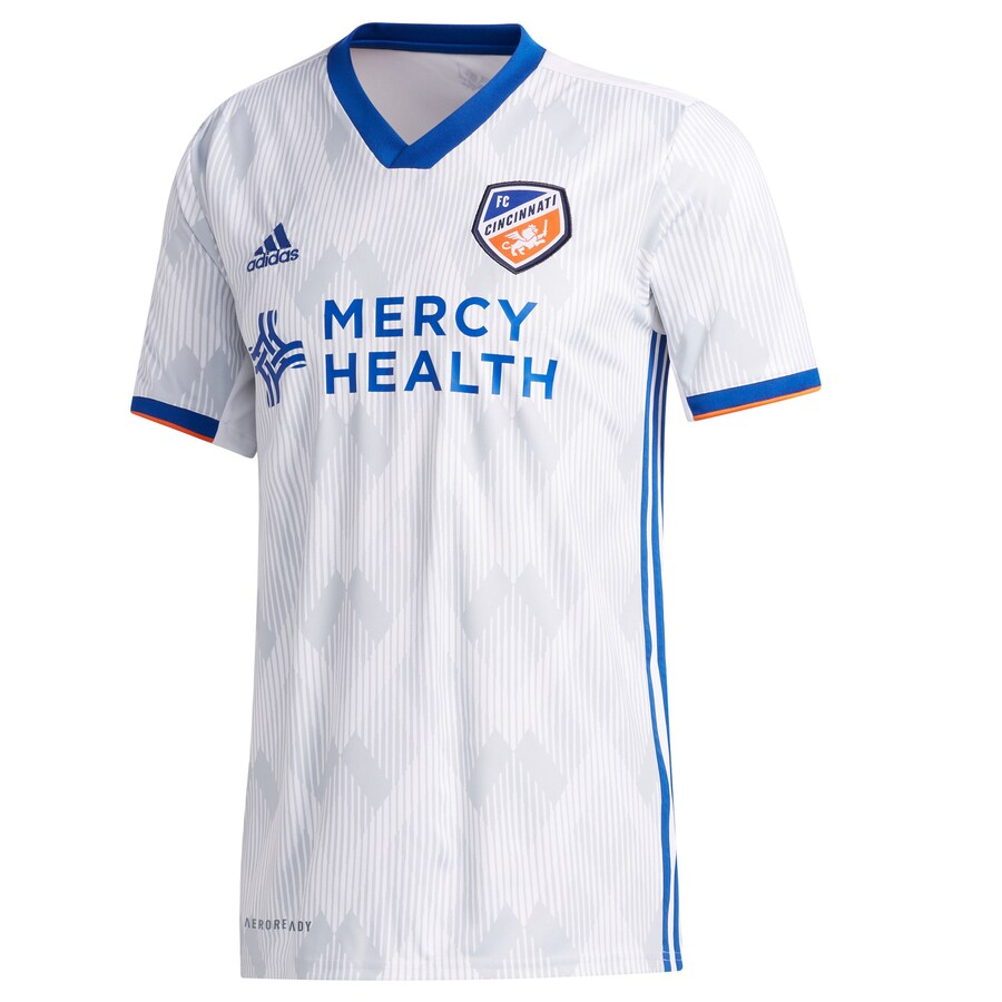 FC Cincinnati Away 2020 Football Shirt. The shirt is manufactured by Adidas and the club plays in MLS.