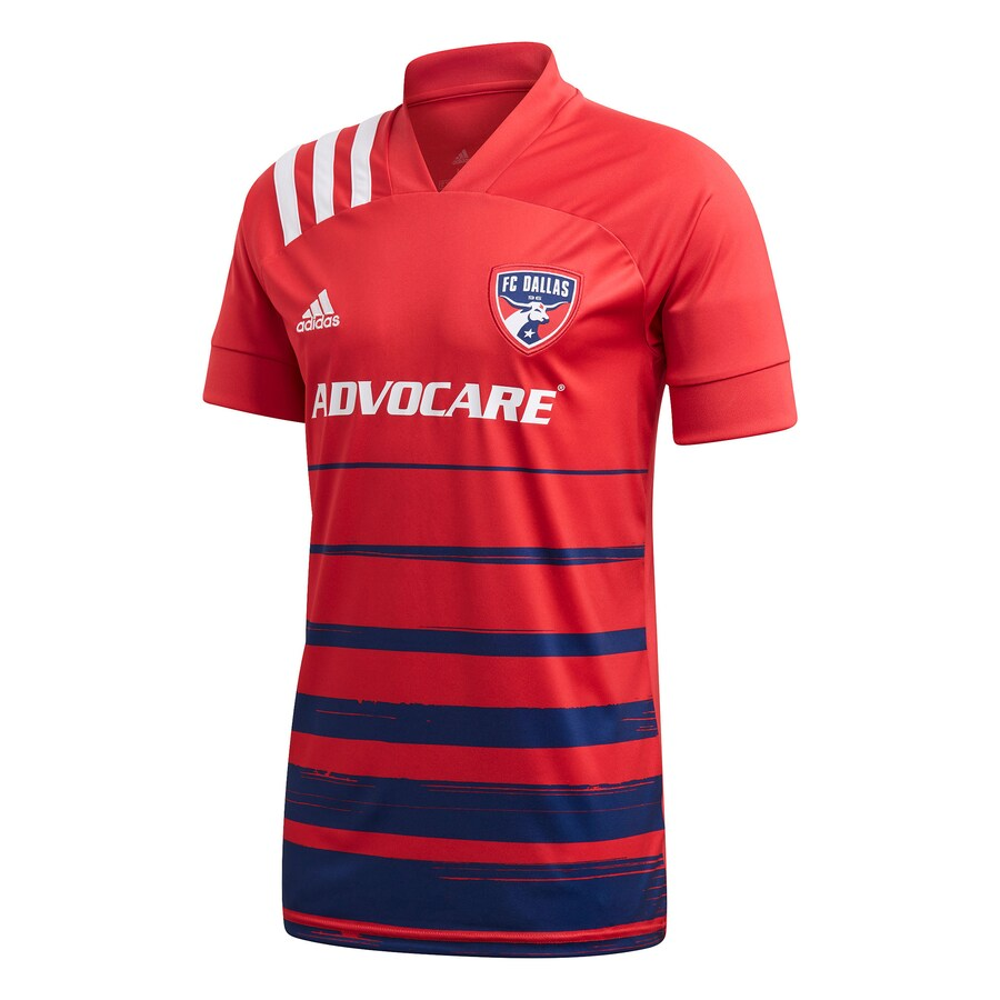 FC Dallas Home 2020 Football Shirt. The shirt is manufactured by Adidas and the club plays in MLS.