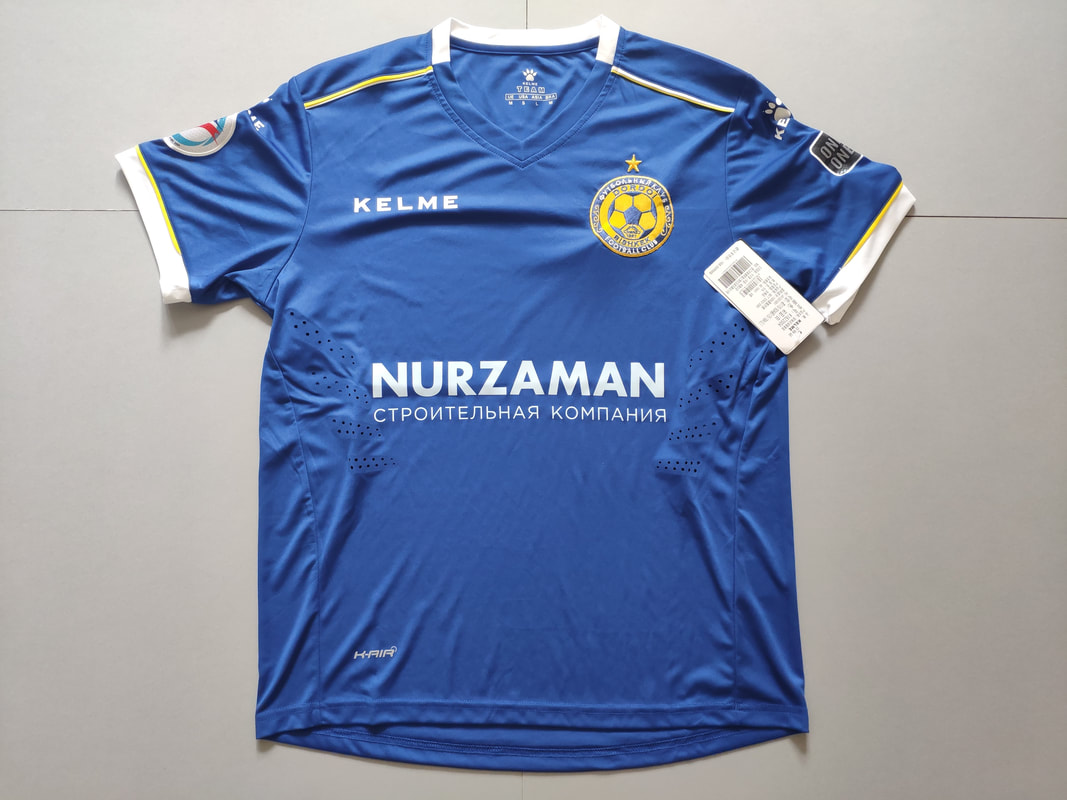 FC Dordoi Bishkek Home 2019/2020 Football Shirt Manufactured By Kelme. The Club Plays Football In Kyrgyzstan.