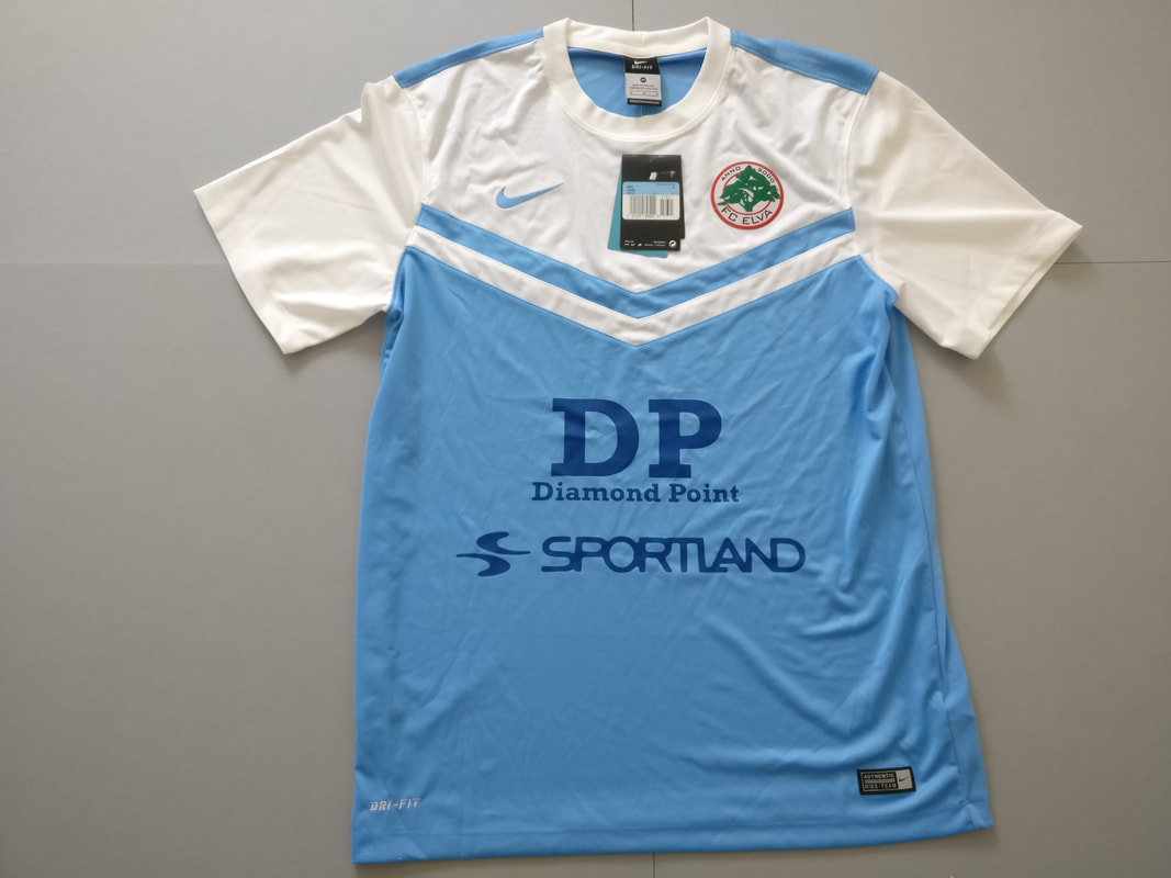 FC Elva Away 2013 Football Shirt Manufactured By Nike. The Club Plays Football In Estonia.