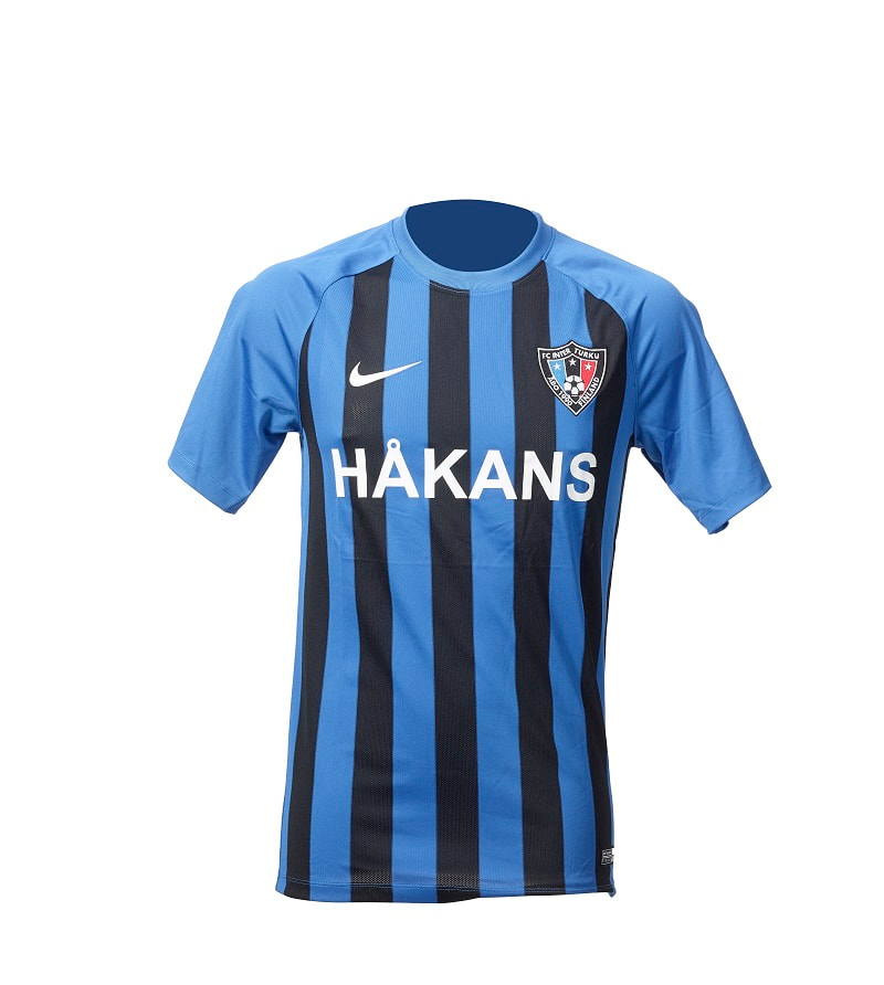 FC Inter Turku Home 2020 Football Shirt Manufactured By Nike. The Club Plays Football In Finland.