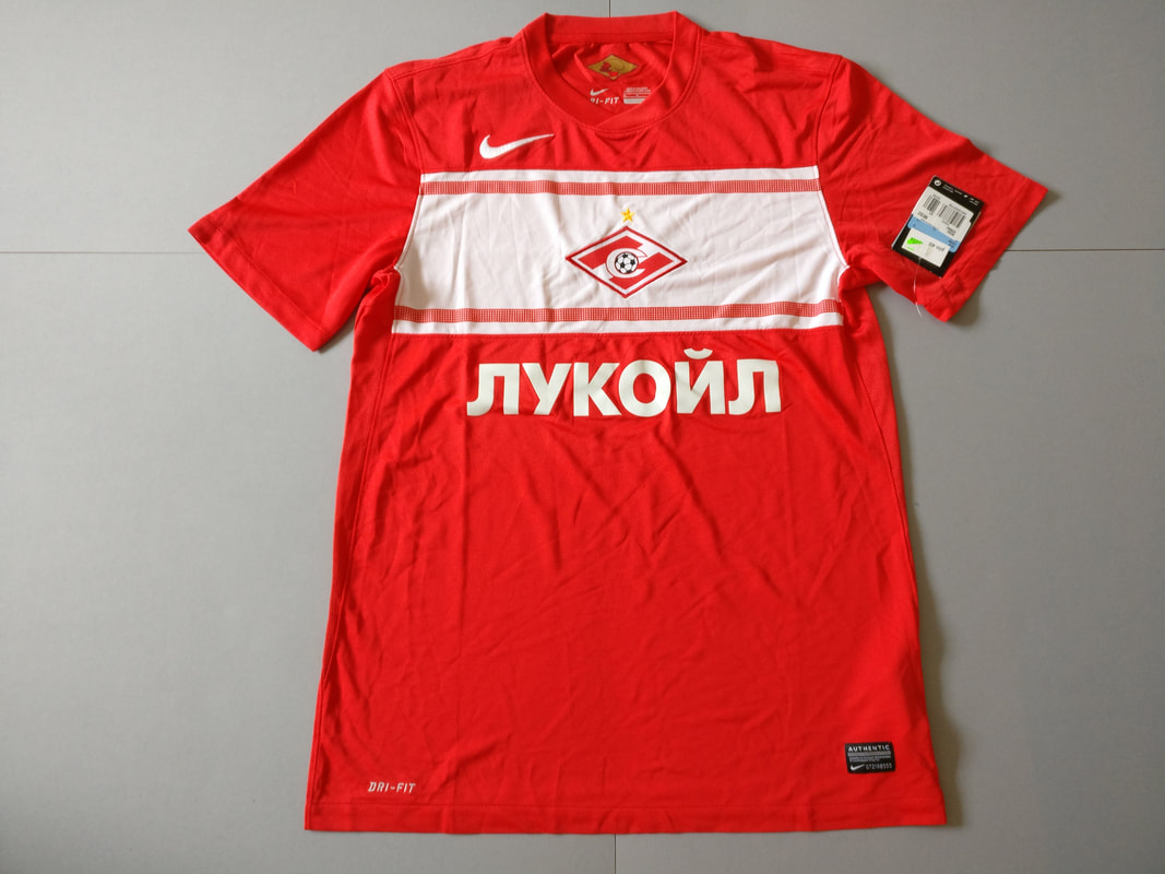 FC Spartak Moscow Home 2012/2013 Football Shirt Manufactured By Nike. The Club Plays Football In Russia.