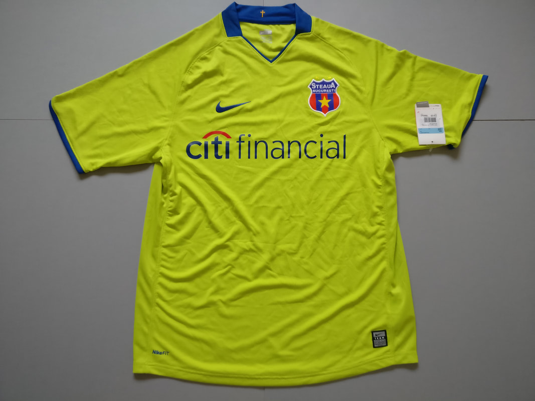FC Steaua București Away 2008/2009 Football Shirt Manufactured By Nike. The Club Plays Football In Romania.