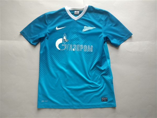 Football Club Zenit Home 2013/2014 Shirt. Club Football Shirts.