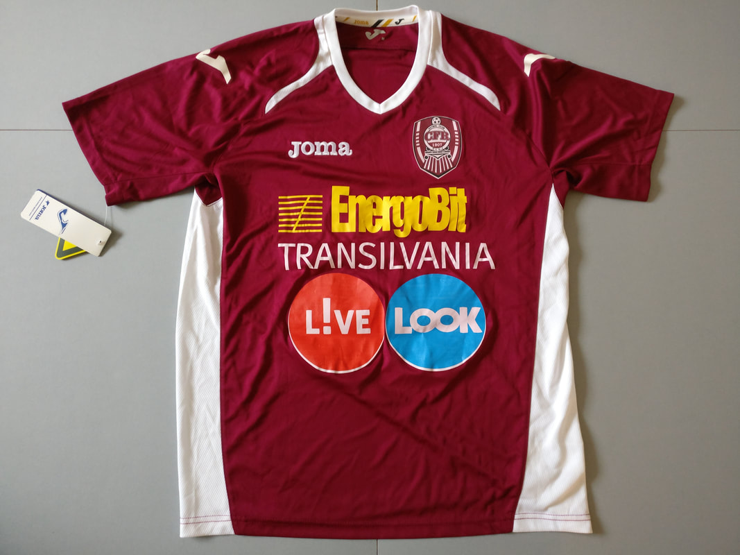 Fotbal Club CFR 1907 Cluj Home 2012/2013 Football Shirt Manufactured By Joma. The Club Plays Football In Romania.