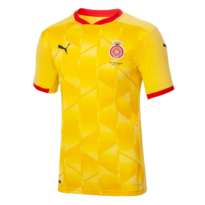 Girona Away 2020/2021 Football Shirt Manufactured By Puma. The Club Plays Football In Spain.
