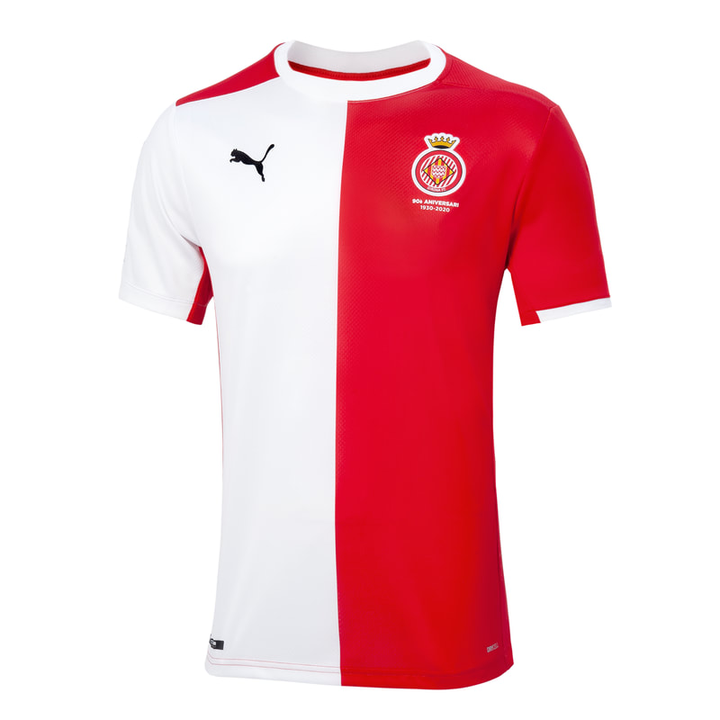 Girona Home 2020/2021 Football Shirt Manufactured By Puma. The Club Plays Football In Spain.