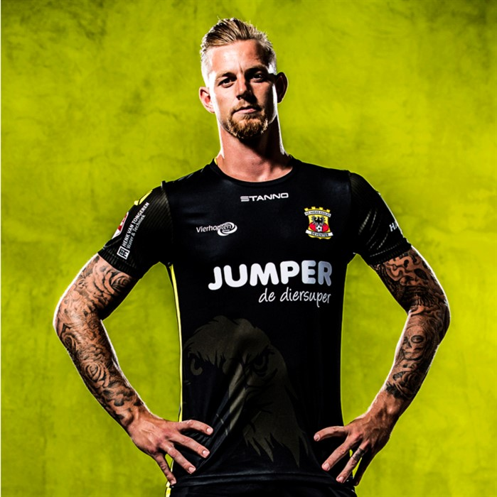 Go Ahead Eagles Away 2020/2021 Football Shirt Manufactured By Stanno. The Club Plays Football In The Netherlands.