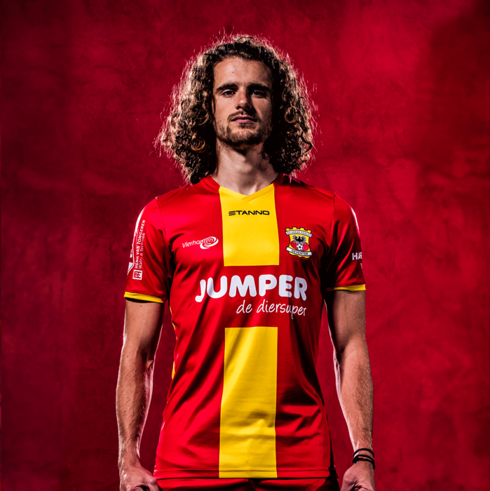 Go Ahead Eagles Home 2020/2021 Football Shirt Manufactured By Stanno. The Club Plays Football In The Netherlands.