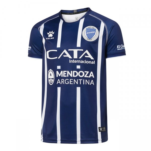 Godoy Cruz Antonio Tomba Home 2020 Football Shirt. The shirt is manufactured by Kelme and the club plays in Argentina