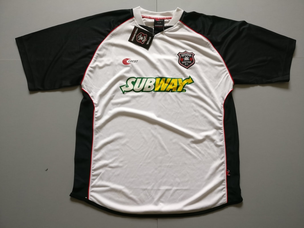 Gretna F.C. Home 2007/2008 Football Shirt Manufactured By Crest. The teams plays football in Scotland.