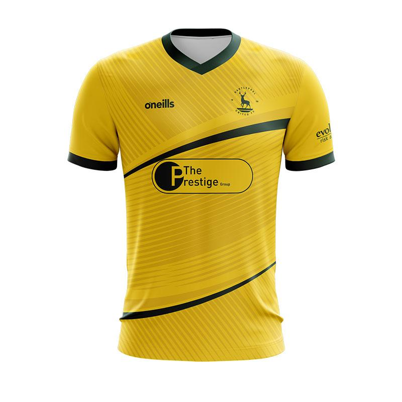 Hartlepool United Away 2020/2021 Football Shirt Manufactured By O'Neills. The Club Plays Football In England.