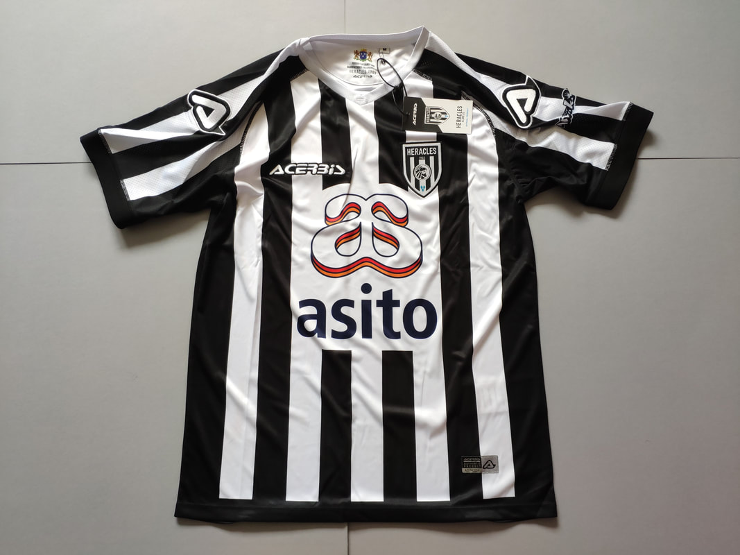 Heracles Almelo Home 2019/2020 Football Shirt Manufactured By Acerbis. The Club Plays Its Football In The Netherlands.