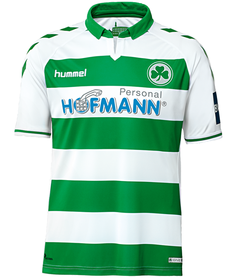 SpVgg Greuther Fürth Home 2018/2019 Shirt. Club Football Shirts.