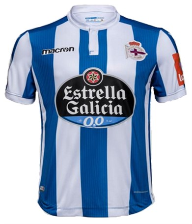 Deportivo La Coruña Home 2018/2019 Shirt. Club Football Shirts.