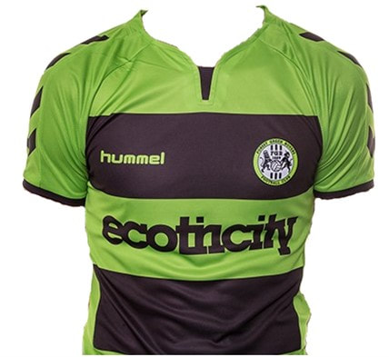 Forest Green Rovers Home 2018/2019 Shirt. Club Football Shirts.