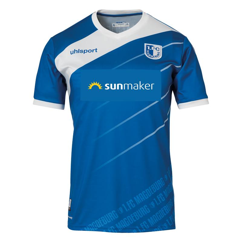 1. FC Magdeburg Home 2018/2019 Shirt. Club Football Shirts.
