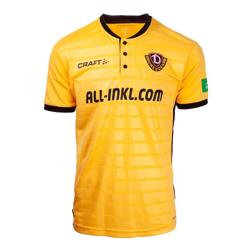 Dynamo Dresden Home 2018/2019 Shirt. Club Football Shirts.