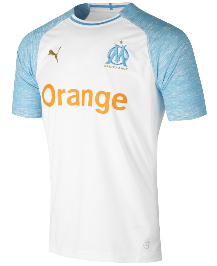 Marseille Home 2018/2019 Shirt. Club Football Shirts.