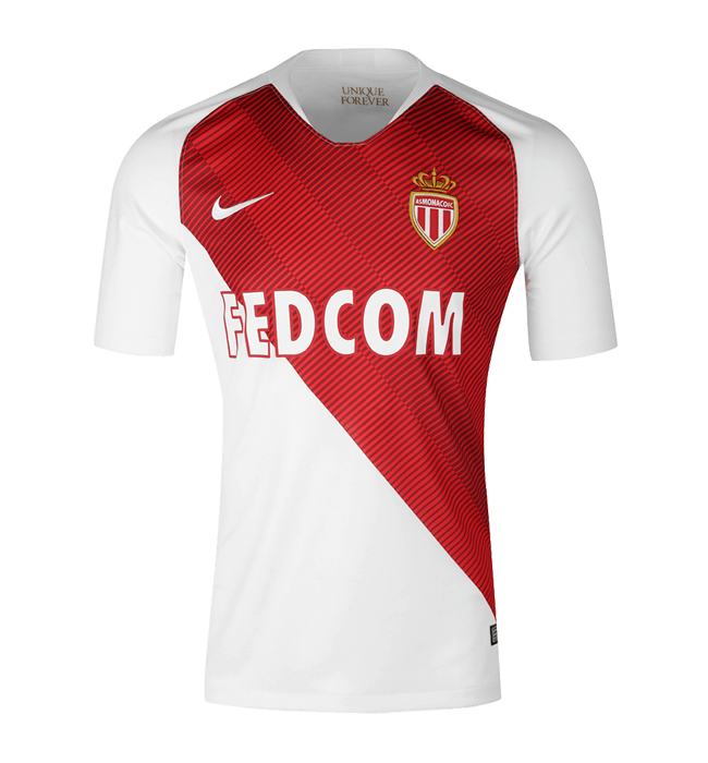 Monaco Home 2018/2019 Shirt. Club Football Shirts.