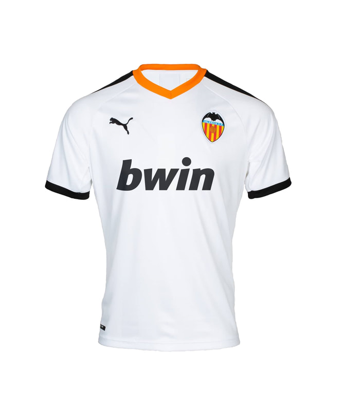 Valencia Home 2019/2020 Shirt. Club Football Shirts.